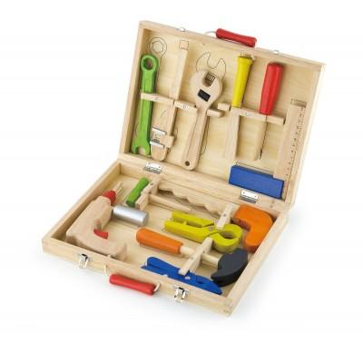 Boîte à outils en bois pour enfant 3ans+ 12 pièces