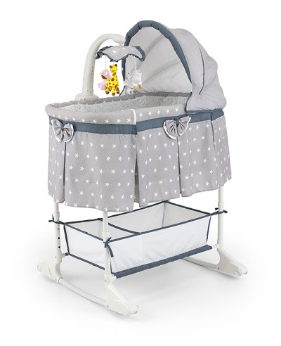 Berceau bébé 0-5m interactif avec télécommande 4en1 Sweet Melody